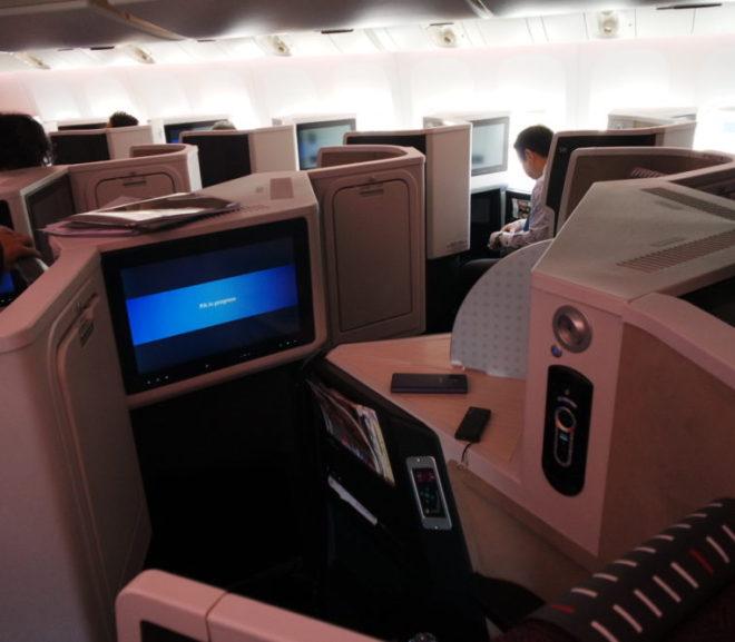 JALのスカイスイート3。フルフラットのビジネスクラス