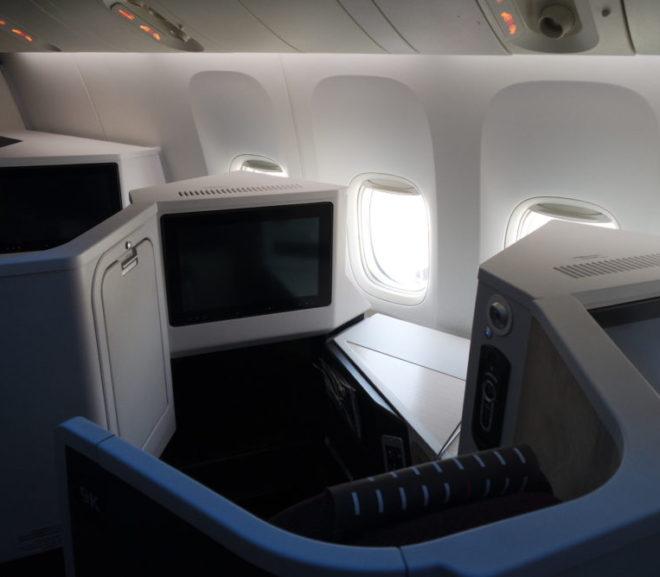 JALビジネスクラスでシンガポールへ。スカイスイート3