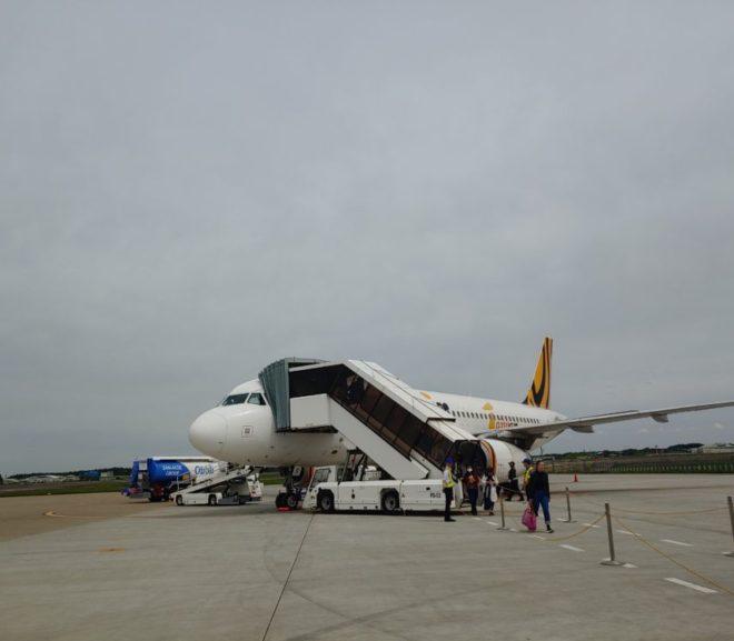 タイガーエア台湾で茨城空港へ