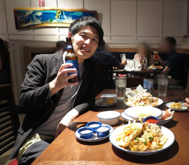 友達とアメリカンな食事