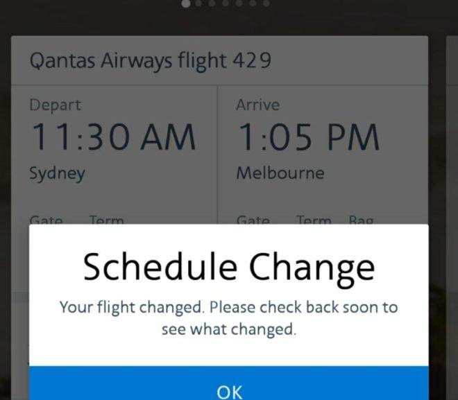 予約していたCX便がキャンセル。泣